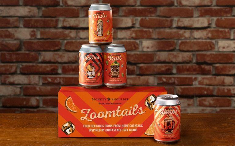 Monkey Shoulder whisky Zoomtails canned cocktails
