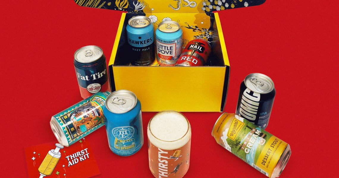 Deliver cheer to your thirsty stay-home friends with this craft beer gift box